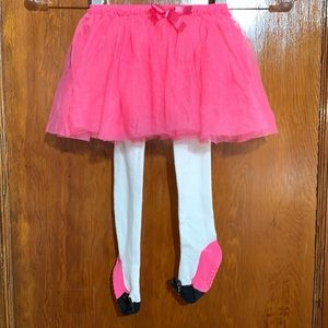 The Children's Place Pink Tutu with Tights 12-18M